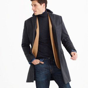 J.Crew Ludlow topcoat in wool-cashmere - Charcoal